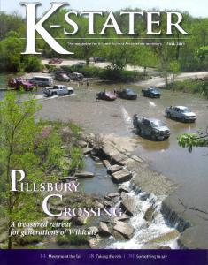 Pillsbury Crossing Photo On The Cover Of K-Stater Magazine